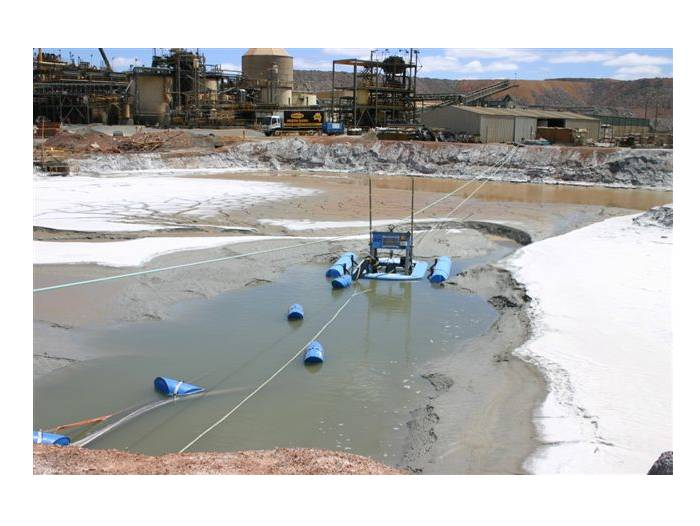 Jetting Dredge on site at a gold mine